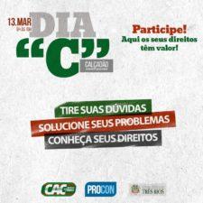 Dia C acontece nesta segunda-feira em Três Rios