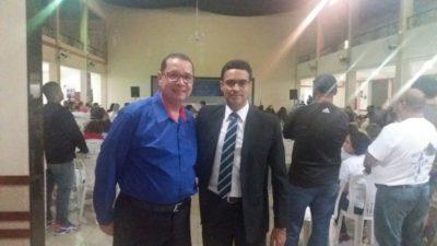 Luiz Alberto e Juarez Souza participam de assembleia realizada pelo Sindicato dos Servidores Públicos Municipais