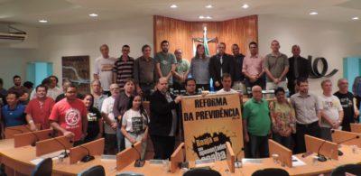 Professores universitários e sindicalistas participam de audiência pública sobre Reforma da Previdência na Câmara de Vereadores de Três Rios