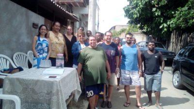 Luiz Alberto acompanha eleição da Associação de Moradores do Morro São Carlos