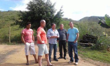 Vereador Fabiano Oliveira e diretor do Saaetri visitam Bemposta e Santa Terezinha