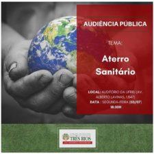 Câmara de Vereadores de Três Rios realiza audiência pública para debater sobre o aterro sanitário na próxima segunda-feira