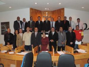 Representantes da Federação Nacional dos Trabalhadores Bombeiros Civis visitam a Câmara de Vereadores de Três Rios