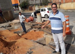 Secretaria de Obras inicia reforma do bueiro na Cidade Nova atendendo ao pedido do vereador Isaías de Oliveira
