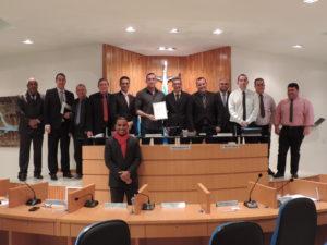 Delegado da Desarme, Fabricio Pereira, é homenageado pela Câmara de Vereadores de Três Rios