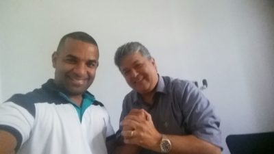 Rogério Camarinho visita Bemposta e solicita construção de muro de contenção e restauração da praça