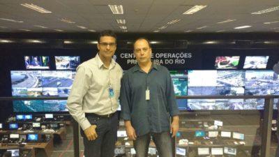 Vereador Juarez de Souza visita Central de Monitoramento na Prefeitura do Rio