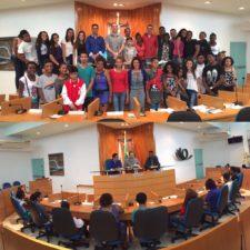 Alunos da Escola Municipal Santa Luzia visitam Câmara de Vereadores