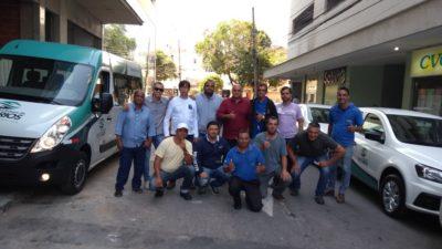 Vereador Jonas Dico agradece entrega de 11 veículos no Setor de Transporte da Saúde