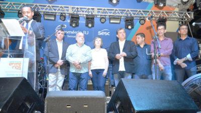 Vereadores no Festival de Gastronomia e posse da CDL