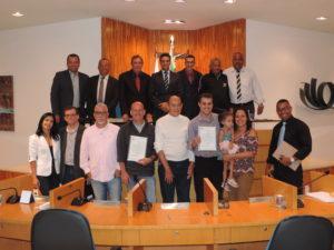 Delegado e policiais civis homenageados na Câmara de Vereadores de Três Rios