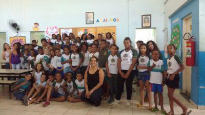 Vereador Juarez da Saúde participa de bate-papo com alunos do Ensino Fundamental