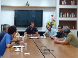 Vereador Juarez da Saúde participa de reunião com equipe técnica da MRS