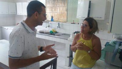 Nilcélio Sá e Fabiano Oliveira visitam escolas do município