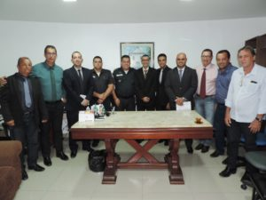 Vereadores se reúnem com comandante do 38º Batalhão da Polícia Militar