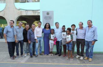 Vereadores na reinauguração do Ciep Municipalizado da Morada do Sol