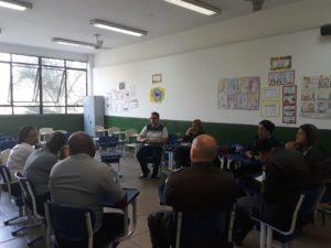 Luiz Alberto Barbosa participa da reunião do Conselho Comunitário de Segurança Escolar
