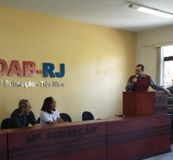 Vereador Luiz Alberto Barbosa no I Fórum de Conscientização da Violência contra a Pessoa Idosa