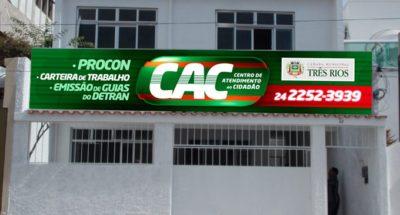 CAC Três Rios registrou 3.062 atendimentos no último trimestre