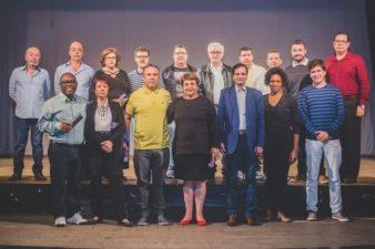 Vereadores participam do lançamento da galeria no Teatro Celso Peçanha