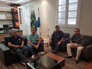 Vereador Fabiano Oliveira participa de reunião para discutir realização do Moto Route na Praça São Sebastião