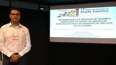 Fisioterapeuta e vereador Juarez da Saúde apresenta relato de experiência em congresso