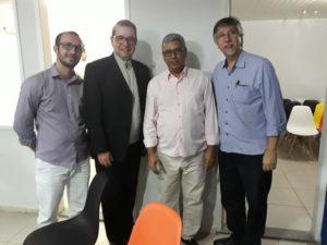 Luiz Alberto Barbosa participaram de inauguração de escola tecnológica
