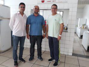 Vereadores realizam visita no Colégio Municipal Walter Franklin