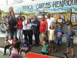 Rogério Camarinho participa da inauguração da Praça Carlos Henrique Leal Lamek