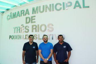 Vereador Fabiano Batista reúne-se com técnicos do Ipem