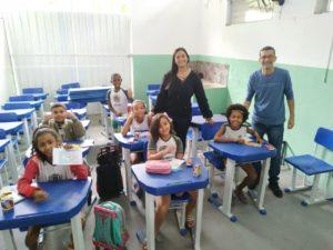 Nilcélio Sá visita Escola Municipal Eurídice Ferreira