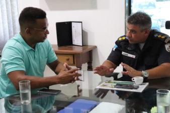 Rogério Camarinho reúne-se com comandante do 38º Batalhão da Polícia Militar