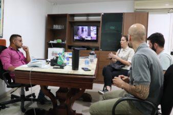 Presidente Rogério Camarinho participa de reunião para tratar sobre projeto de coleta seletiva que será implantado em Três Rios
