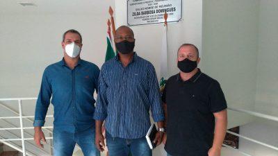 Vereadores Gustavo Carvalho e Professor Anderson Muriçoca analisam a segurança pública municipal com coronel Santana