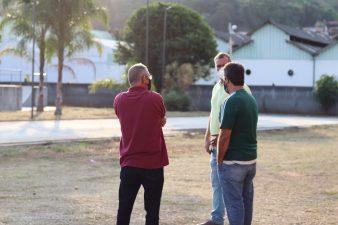 Professores Anderson Muriçoca e Erquinho visitam Complexo Esportivo Social Olímpico