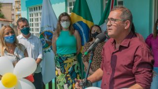 Vereadores participam da entrega da revitalização da Creche Municipal Vila Isabel